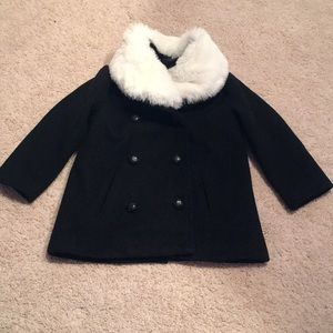 Black Double Breasted Toddler Coat